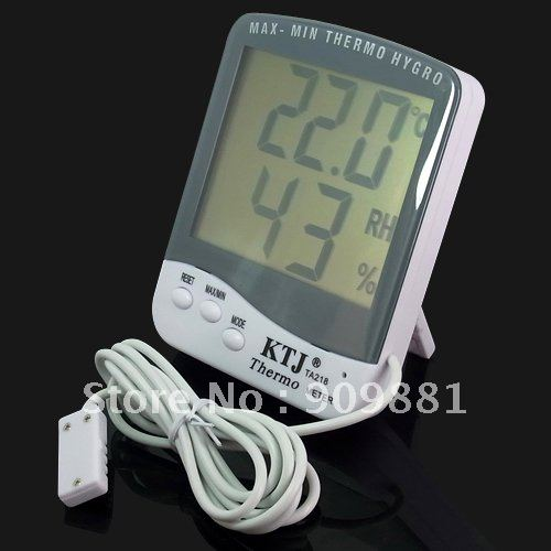 New arrivals Digital LCD Indoor Outdoor Thermometer Hygrometer Sensor #593 free shipping(China (Mainland))