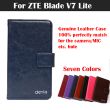 ZTE Blade V7 Lite Case Flip Genuine Leather Protective Phone Cover Real Skin - Guangzhou Venice store