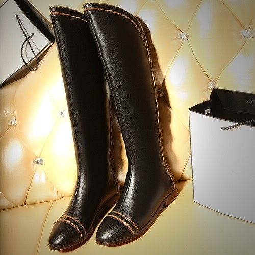 2014 are the true nature of the knee high leather high-heeled boots elegant woman BIKER BOOTS warm boots women size 34-42