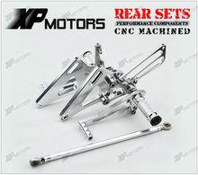 Silver CNC Billet Foot Pegs Adjustable Rearset Rear Sets Honda NC39 CB400SF VTEC 1 2 3 1999 2000 2001 2002 03 04 05 06 2007 - A&M Kebull's Parts store