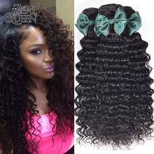6A Brazilian Curly Virgin Hair 4Pc Brazilian Deep Curly Virgin Hair Hot Sale Curly Weave Human Hair Bundles Brazilian Deep Wave(China (Mainland))