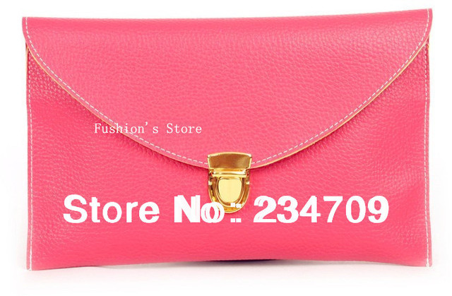 Free shipping,Women Satchel Envelope Clutch Lady Chain Purse PU Leather Handbag Shoulder Tote women messenger bags day cluthces