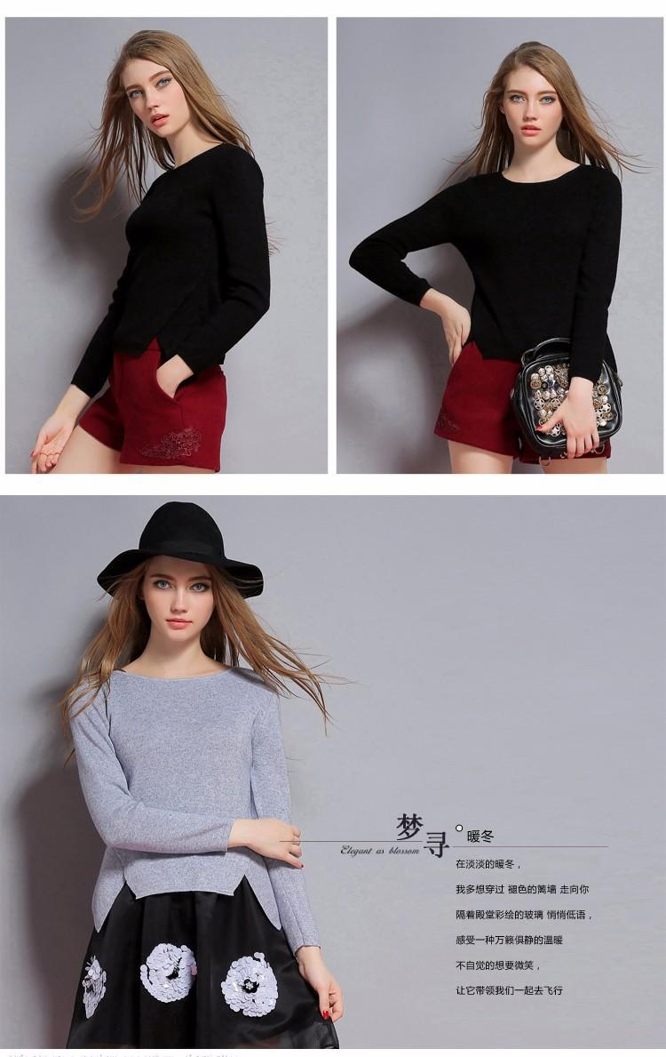 7 цвета кашемир и шерстяной свитер женщин теплые пуловеры 2015 новый зима стандарт свитера о-образным вырезом мода одежда бесплатная доставка