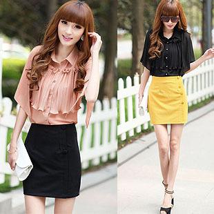 On Sale Dresses Chiffon shirt 2013 women's spring gentlewomen slim waist top sleeveless mantissas style chiffon shirt female