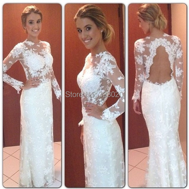 Tight fitting white prom dress