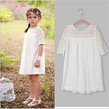 2015 dentelle d'été de robe de fille desinvolte mode party girl vêtements pour enfants robe meninas bébé robe(China (Mainland))