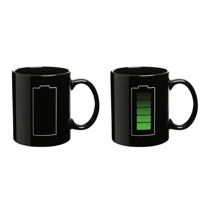 96pcs/lot Wholesale DHL Free Shipping,New Arrival Battery Color Changing Mug,Novelty Ceramic Coffee Tea Milk Cup With Retail Box(China (Mainland))