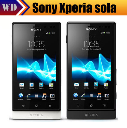 MT27i Original Sony Ericsson Xperia sola MT27 Android GPS WIFI 5MP Dual Core Unlocked Mobile Phone in stock Free Shipping(China (Mainland))