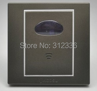 free shipping wall switch Acoustic control delay sound control switch coffee color best(China (Mainland))
