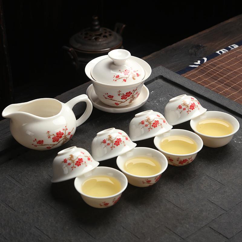 Originally from China Travel tea sets blue and white porcelain china tea sets tea tools gift box free shipping(China (Mainland))