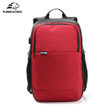 Kingsons Brand 2017 New Arrival External USB Charge Travel Backpack Anti-theft Notebook Computer Bag 15.6 inch for Men Women(China (Mainland))