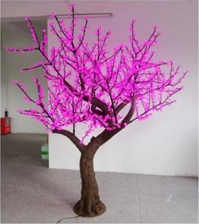 Outdoor LED Simulation Landscape pink Tree Light for project(China (Mainland))
