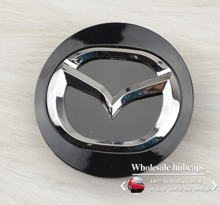 4pcs/lo tBlack color Wheel Center Cap Hub Cap Emblem 57MM Diameter Fit for Mazda6,CX7,CX9 Wheel center cover Free Shipping(China (Mainland))