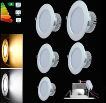 LED Ceiling light SMD 5730 5W/7W/9W/12W/15W/18W/25W AC85-265V Dimmable Recessed LED Down light Led panel light free shipping(China (Mainland))