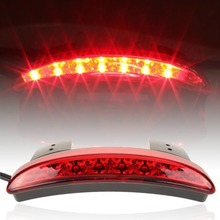 High Quality Motorcycle Light Smoke Or Red Color Rear Fender Edge Red LED Brake Tail light Fit For Harley Sportster XL 883 1200(China (Mainland))