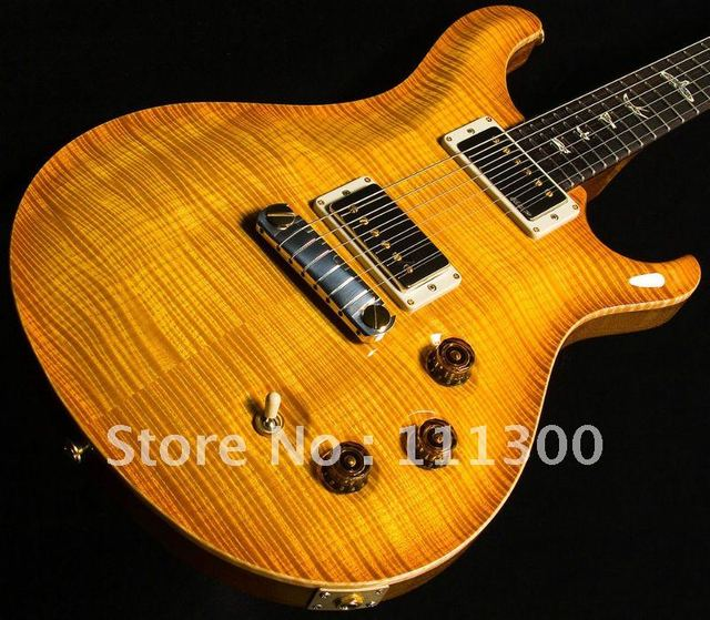Wholesale - custom hot PR S yellow classic stripes electric guitar