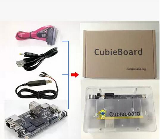 1set Mini PC Cubieboard 1GB ARM Development Board Cortex-A8 Kit Free Shipping Dropshipping(China (Mainland))