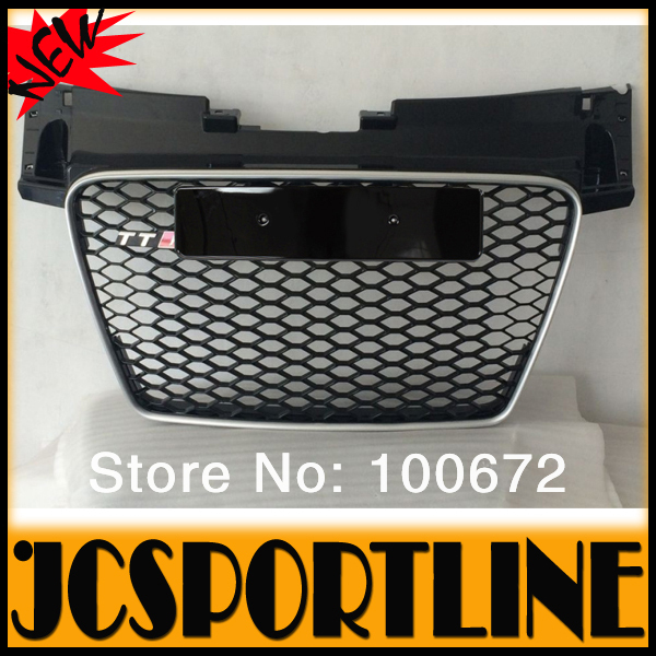 08-14 ABS Black Car Bumper Grille,TTS TTRS Grill SFG Race Grille 8J with silver frame For Audi (Fits AUDI TT 08-14)(China (Mainland))