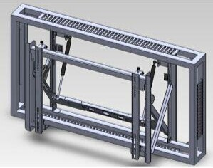 3*3 Wall-mount Brackets for 46 inches DID LCD video wall(China (Mainland))