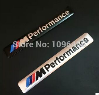 Car Styling 8.5x1.2cm Motosport M Performance Car Door Sticker Badge For BMW Decal m3 m5 X1 X3 X5 X6 E36 E39 E46 E30 E60 parking(China (Mainland))