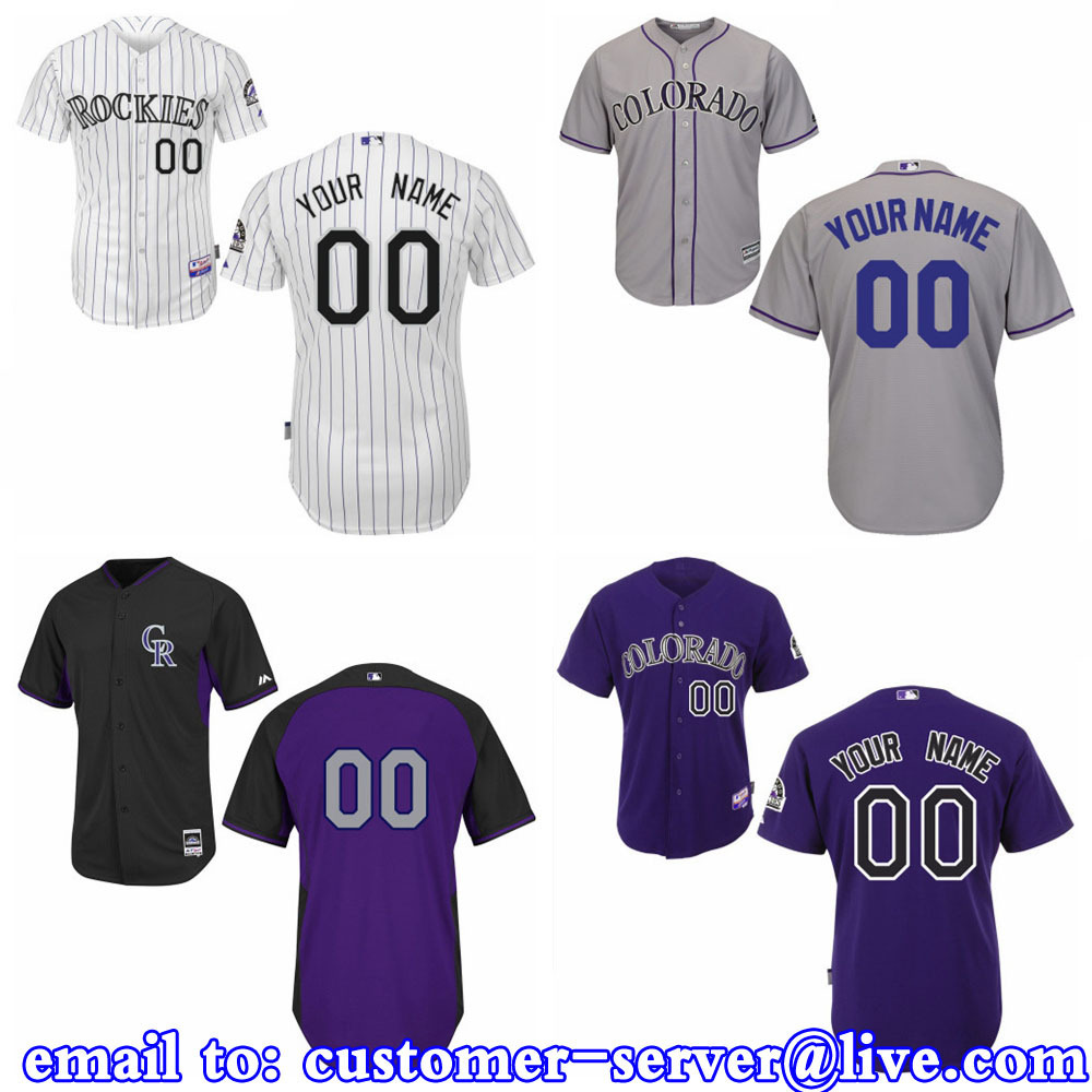 Custom Colorado Rockies 2015 New Cool Base Double Stitched On Mens/Womens/kids Carlos Gonzalez / Todd Helton Baseball Jersey(China (Mainland))