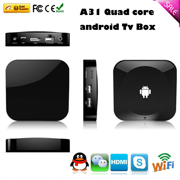 Factory Original A31S Quad core full hd 1080P media player android TV Box - B&Y Digital Technology Co.,Ltd store