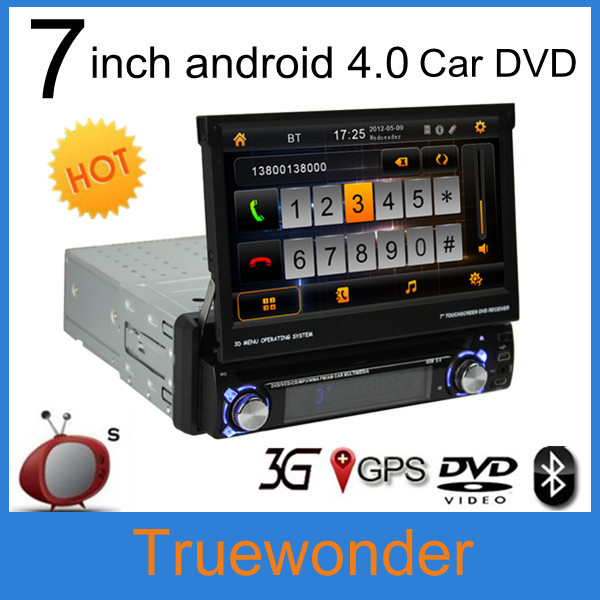 Android 4.0 KD-8300 1 din 7 inch Car DVD player with 3D rotatingUI ATV FM/RDS Subwoofer wifi Car PC+Rear Camera(China (Mainland))