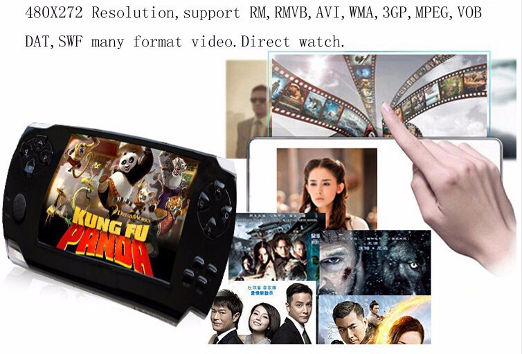 10PCS Free DHL handheld Game Console 4.3 inch screen mp4 player MP5 game player real 8GB support for psp game,camera
