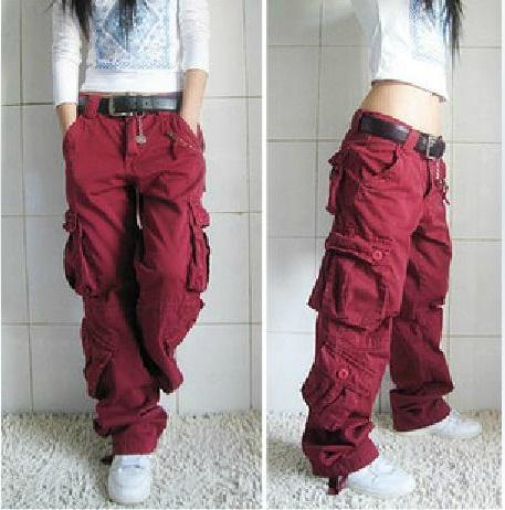 Girls Khaki Cargo Pants