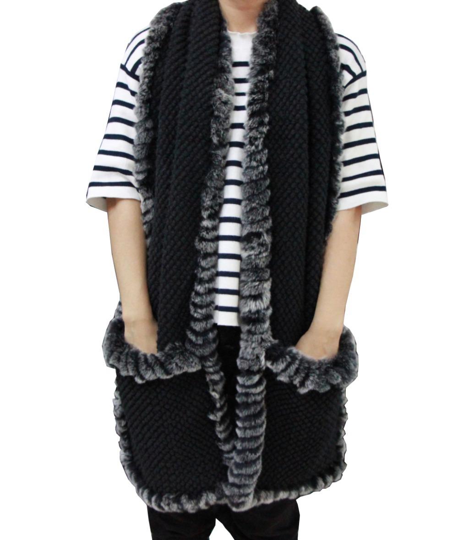 black rabbit 2014 Korean winter,knitting wool Scarf Shawl scarves lady Kitty Long Scarf+Free shipping(China (Mainland))