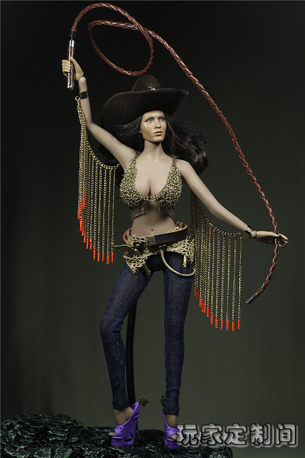 Sexy Phicen Doll 1/6 Scale Customize Clothing For 12'' Phince Female Larger Bust Cowgirl Action Figure Toys Accessories F(China (Mainland))