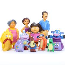 Anime Cartoon Dora the Explorer PVC Figures Toys Child Children Kids Toys Dolls Gifts 12pcs/set(China (Mainland))