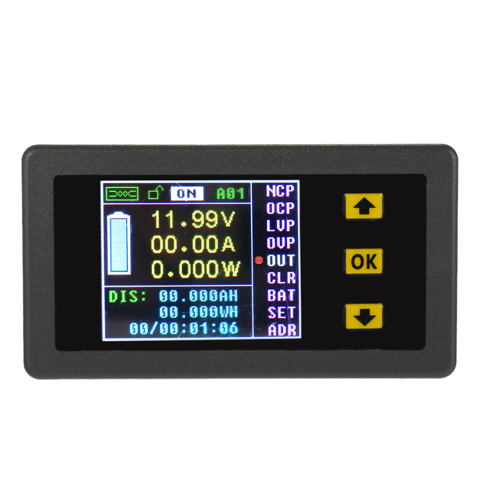 New Wireless Ammeter Voltmeter Coulomb Counter Digital Bi-directional Voltage Current Tester Power Meter DC 0.01-120V 0.01-30A(China (Mainland))