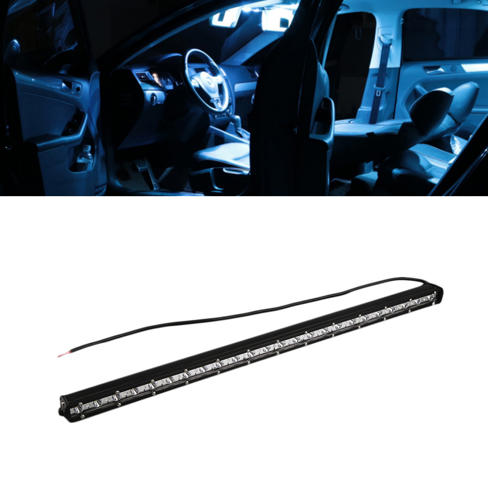 ICOCO LED Car Light Bar Work Light 25inch 72W Single Row Straight LED Work Light Off Road Spot Flood Combo Beam Free Shipping