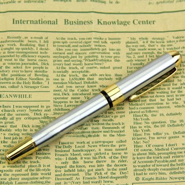 Гаджет  Silver Fountain Pen JINHAO 250 M Nib Gold Trim Removable Ink Converter  YRD  None Офисные и Школьные принадлежности