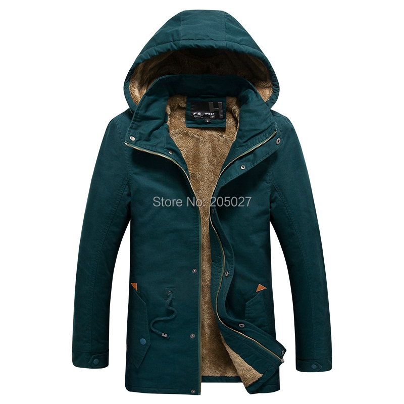 2015 High Quality New Long Winter Jackets Men Wool Hood Winter Coats Men Long Trench Outwear