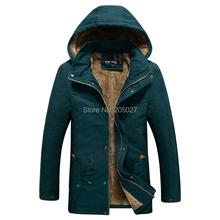 2015 High Quality New Long Winter Jackets Men Wool Hood Winter Coats Men Long Trench Outwear