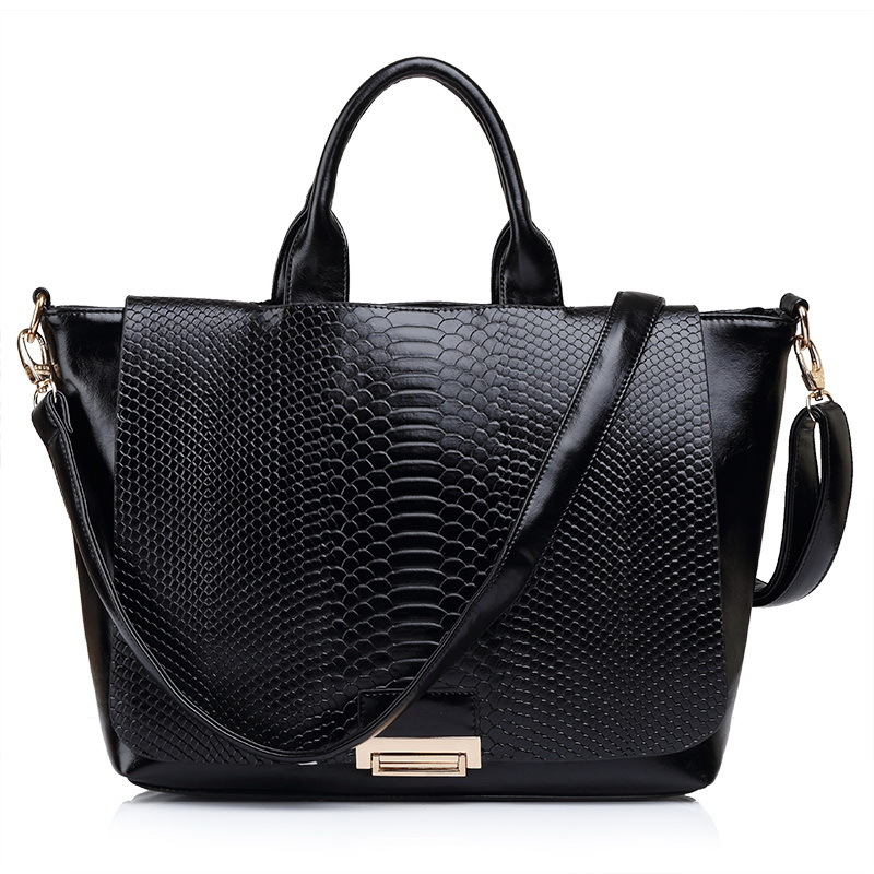 Free shipping fashion retro CROCO design genuine leather and composite leather women handbag/shoulder bag/women bag WLHB716(China (Mainland))