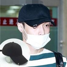 Kpop star EXO-k Park Chan Yeol LAY iron rings vogue new fashion Snapback Hats LIMITED Adjustable Baseball Cap HIP HOP UNISEX(China (Mainland))