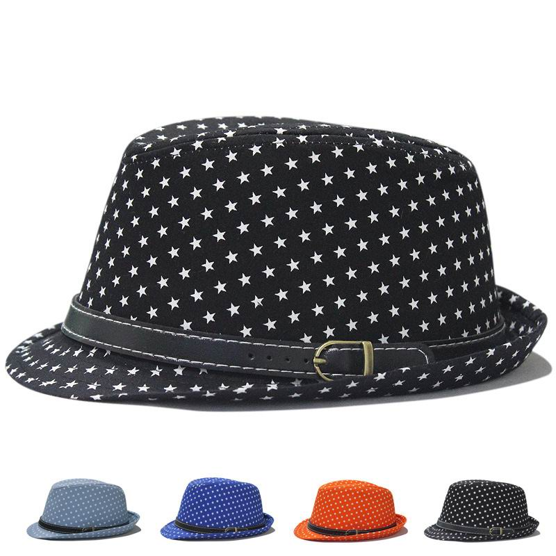 New Style Spirng And Summer Fashion Cotton Fedora Man Spring Casual Top Hat Female Summer Shade Jazz Cap Stars Pattern(China (Mainland))