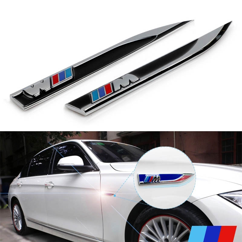Metalic M Blade Power Performance Styling Car Side Wing
