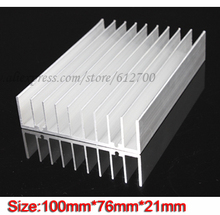 Free Shipping 2PCS 10CM LED Heatsink Grille Type 100x 76x 21MM Aluminum Heat Radiator Sink for