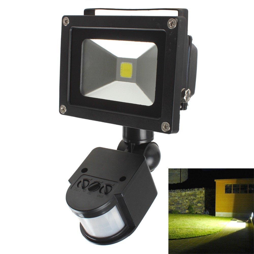20W PIR Infrared Body Motion Sensor LED Garden Light Flood Light Path Wall Lamps AC 85-265V Waterproof Outdoor Landscape Lamp(China (Mainland))