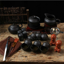 Buy Hot 24pcs yixing tea tools KUNG FU TEA SETS PU ER TEA SETS purple grit tea cup tools ZHI SHA teapot FREE SHIPPING for $33.50 in AliExpress store