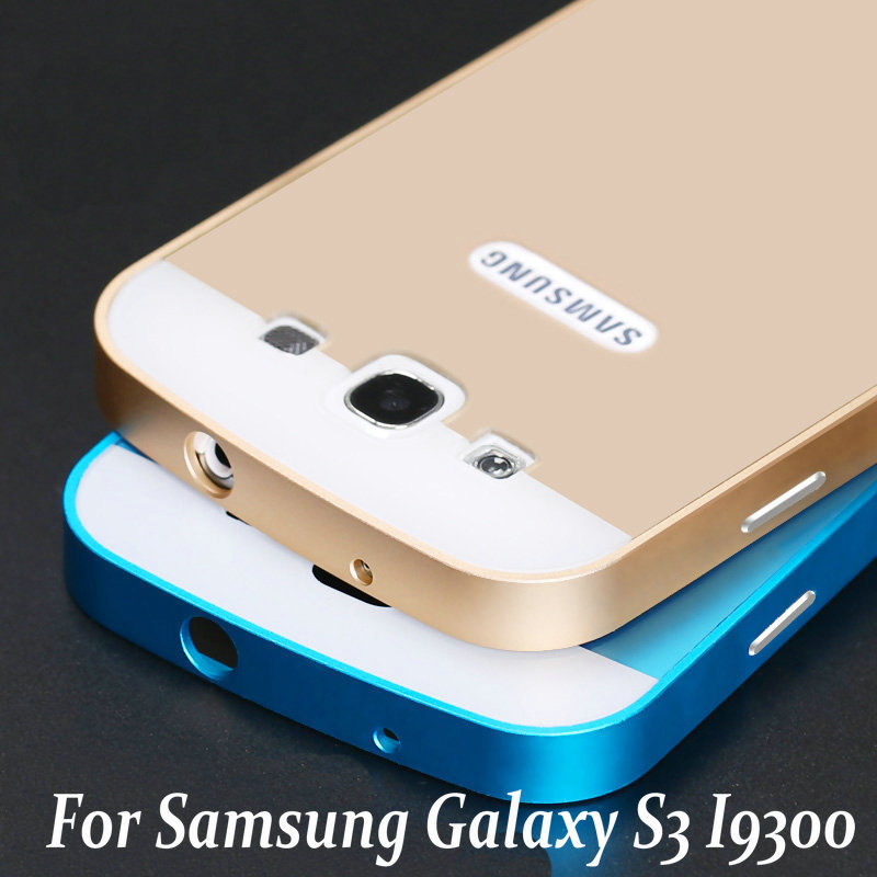 New Luxury Aluminum Frame + PC Back Cover mobile phone Covers Full Protective Cases For Samsung Galaxy S3 SIII S 3 i9300 i9308(China (Mainland))