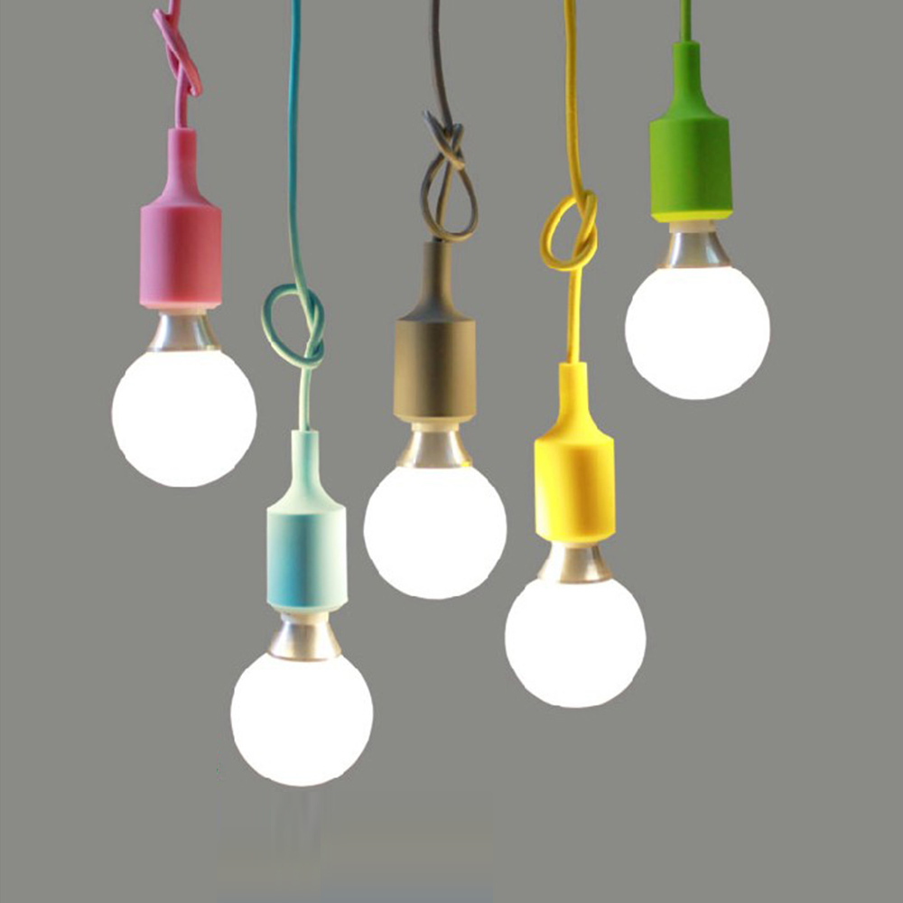 Creative pendant lights vintage edison droplight diy pendant lamp colourful home decoration - Creative hanging lights ...