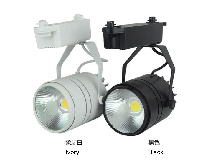 spot em trilho 20W light rail 10pcs/lot 110V120V220V230V240V led spots rail warm/day/pure white free shipping(China (Mainland))