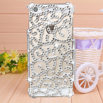 Free Shipping Handmade (Hollow) case for iphone 5 case for iPhone 5s case phone bag protective sleeve shell phone shell diamond