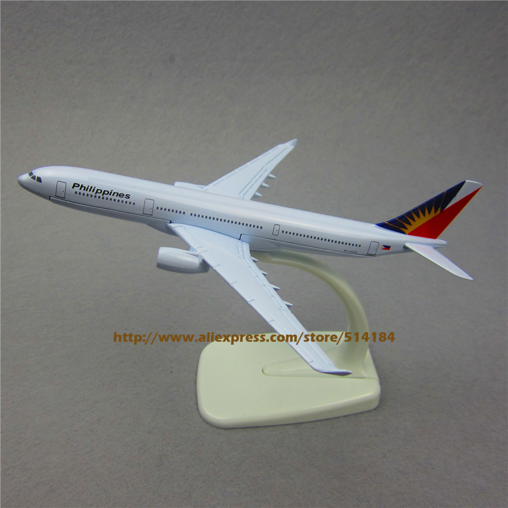 16cm Metal Philippine Air Philippines A330 Airlines Airbus 330 Airways Plane Model Airplane Model w Stand Aircraft(China (Mainland))