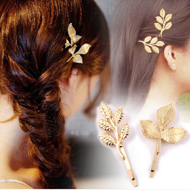 The new gold leaf and fresh wind Sen Department of Greek hairpin leaves of gold hairpin hair wholesale explosion(China (Mainland))